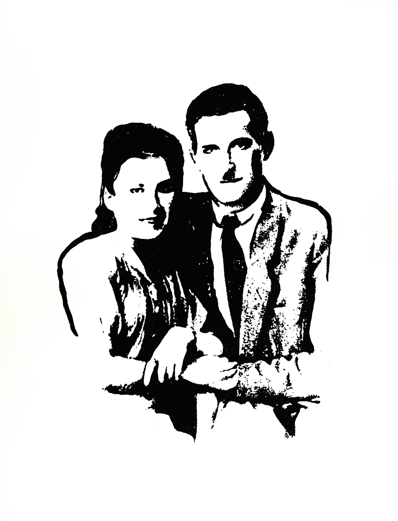 Baba & Zeidi - a portrait by bekky O'Neil