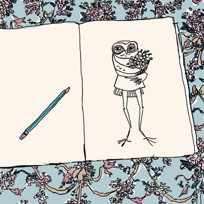 Illustration of an owl by bekky O'Neil