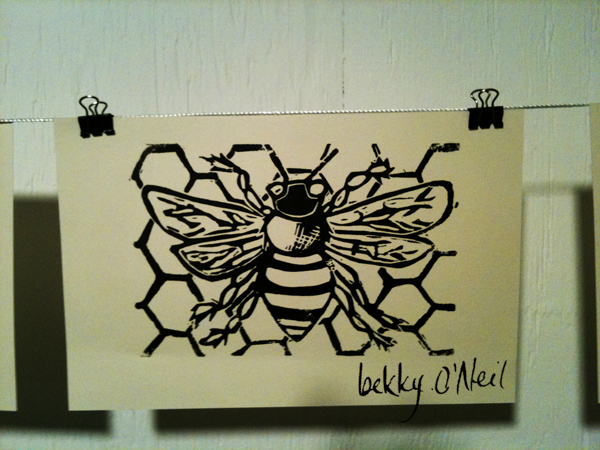 Honey bee by bekky O'Neil